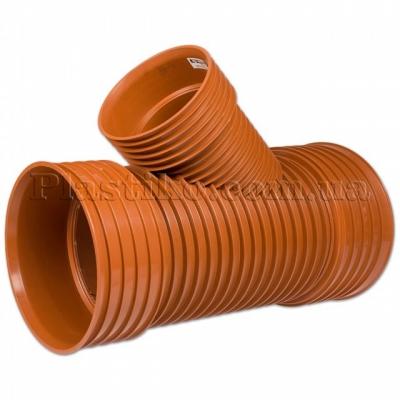 Трійник гофрований каналізаційний під 45°