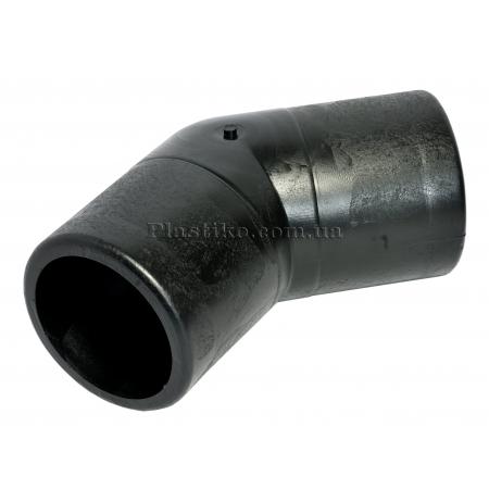 Колено стыковое 125/45° литое ПЭ SDR17
