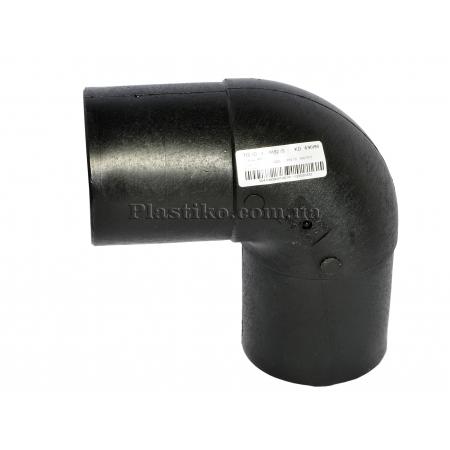 Колено стыковое 140/90° литое ПЭ SDR11