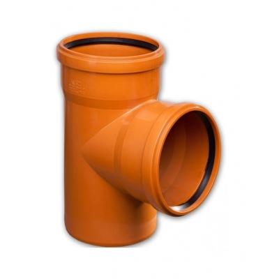 Тройник ПВХ канализационный под 90°